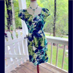IZ Byer Abstract Floral Dress 9 jr. FREE SHIP